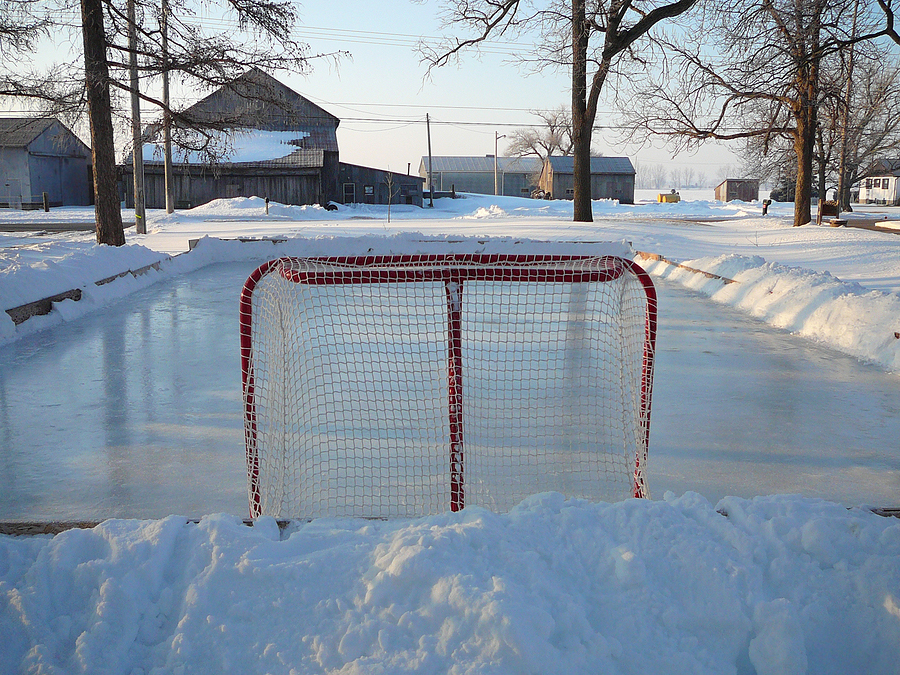 Backyard Ice Rink Size : Hockey Rink Size Living on earth the thrills and spills of backyard